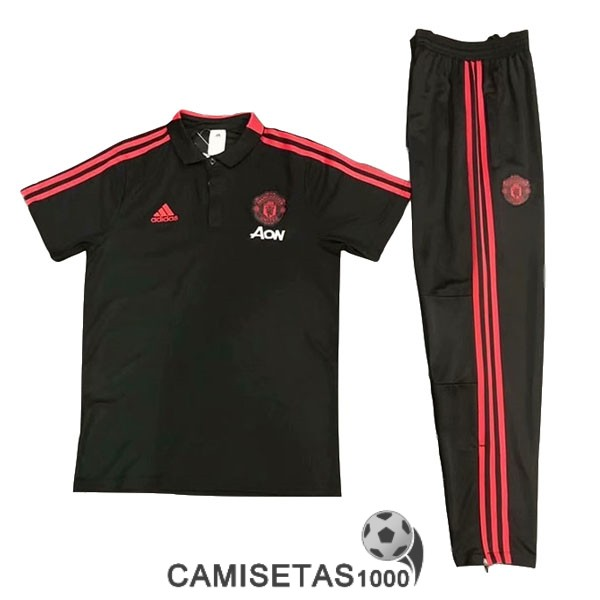 polo manchester united negro 2019-2020 kit