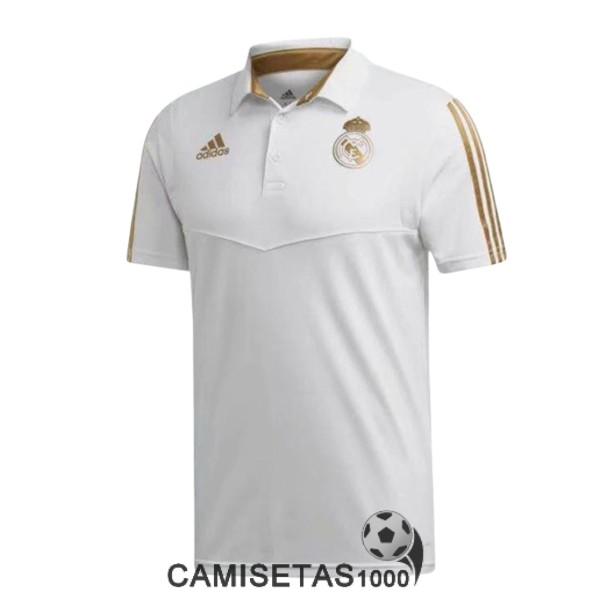 polo real madrid blanco oro B 2019-2020
