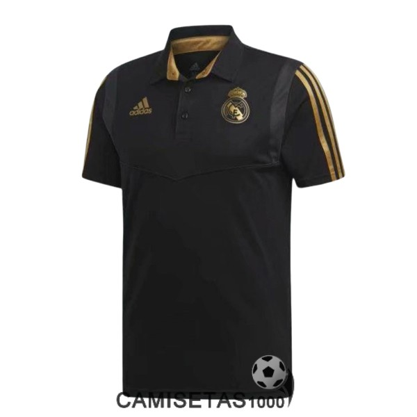 polo real madrid negro oro 2019-2020