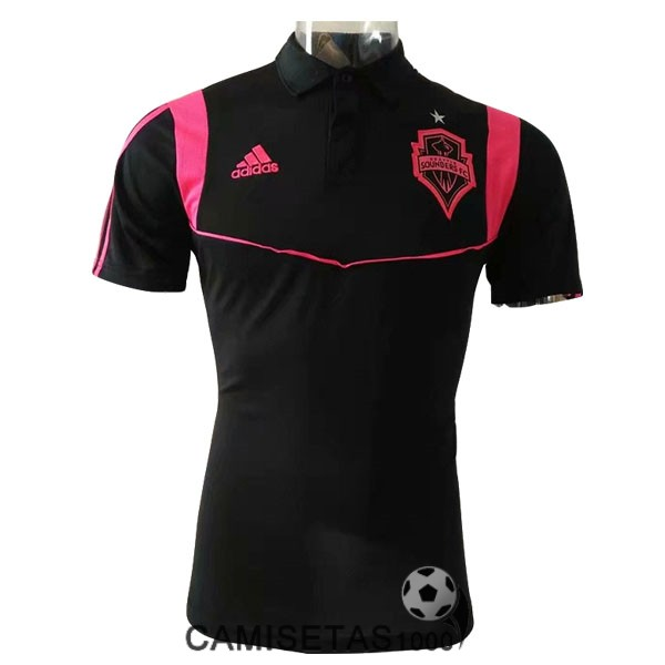 polo seattle sounders negro rosa 2019-2020