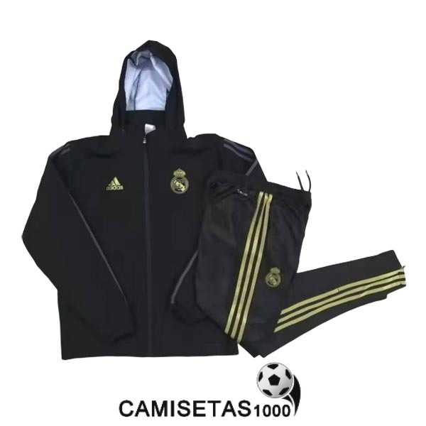 rompevientos real madrid 2019-2020 negro